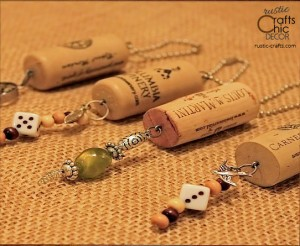 wine cork keychains recycled crafts