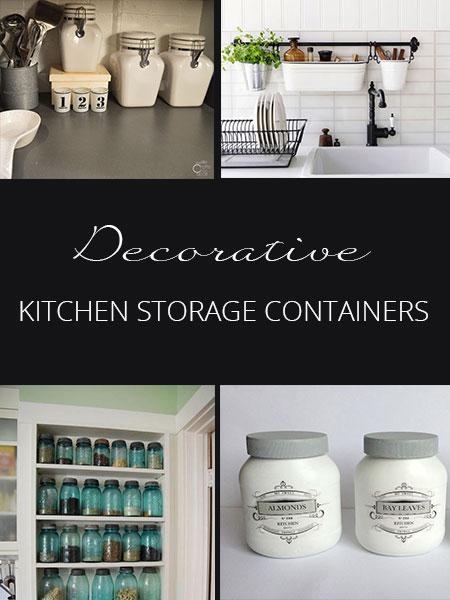 decorative kitchen storage containers - rustic crafts & chic decor