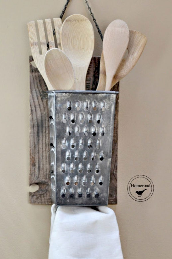 farmhouse kitchen utensil holder