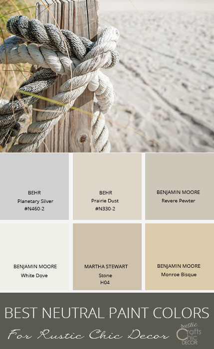 The Best Neutral Paint Colors To Enhance Your Rustic Style Rustic