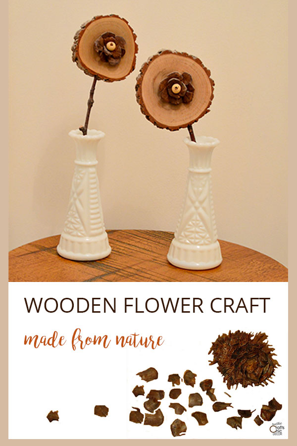 rustic wooden flower craft