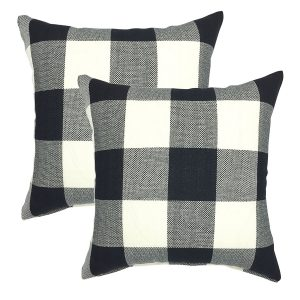 tartan plaid throw pillow