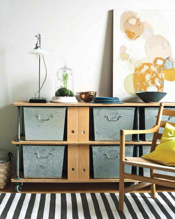 industrial chic storage unit