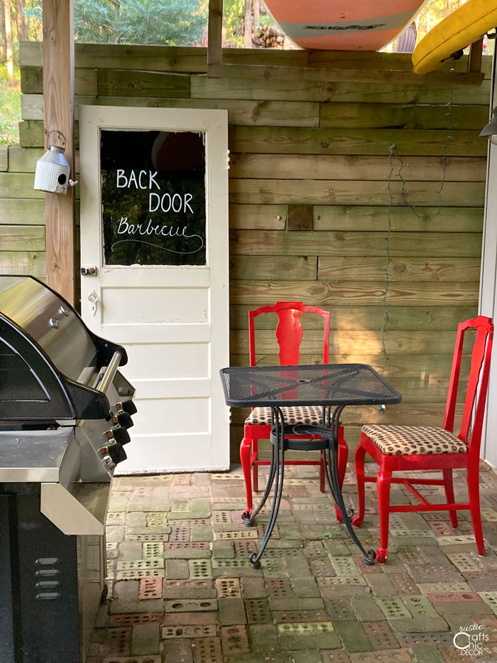 kitchen chairs converted to outside chairs