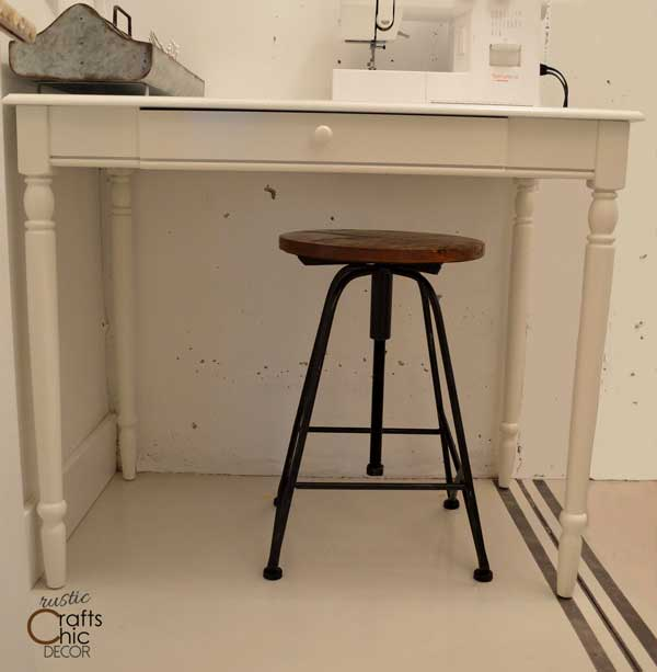 craft room sewing desk