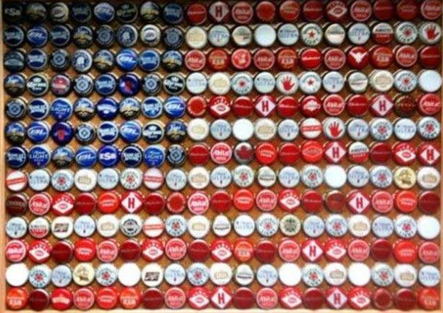 bottle cap flag
