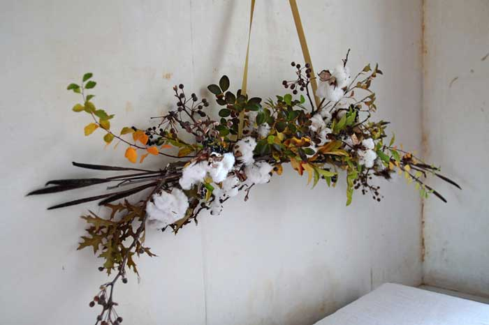 diy cotton garland