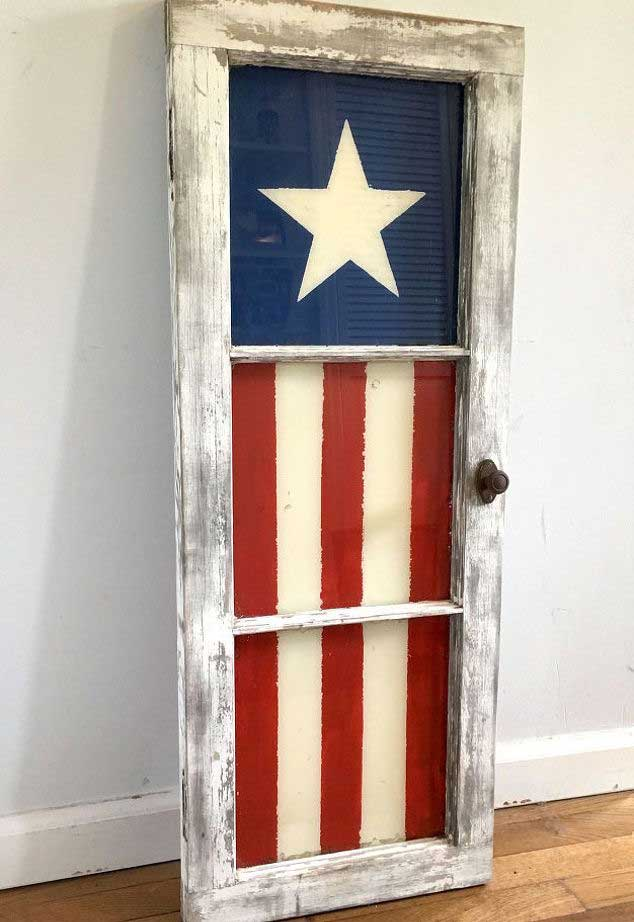 painted window flag