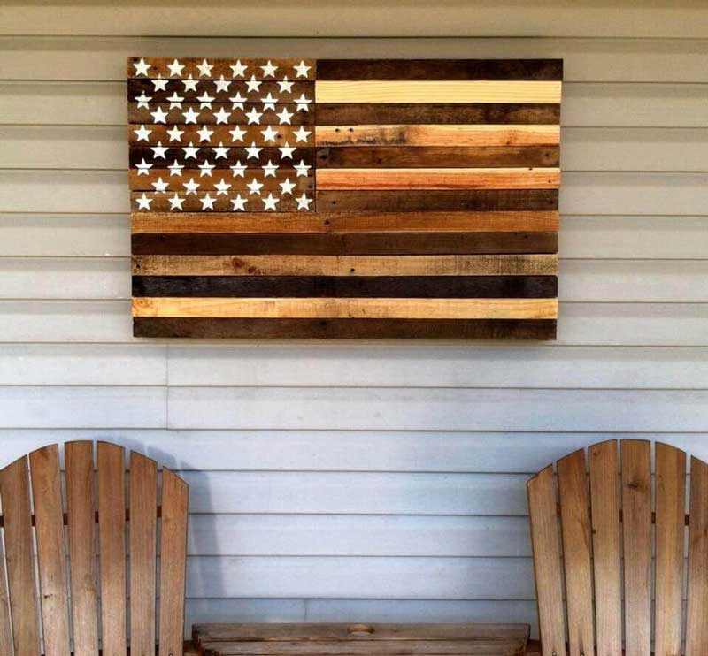 american flag made from pallets