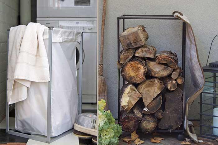ikea hack wood storage