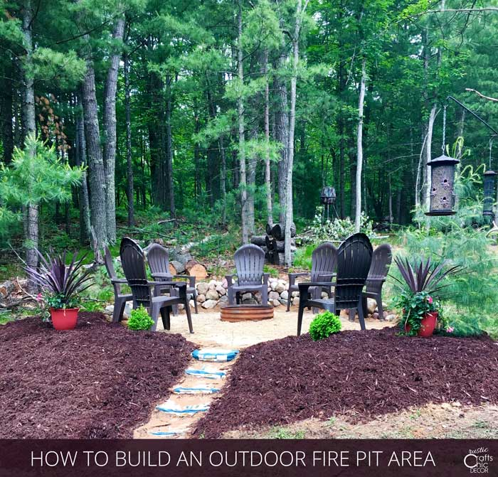 how to make an outdoor fire pit area