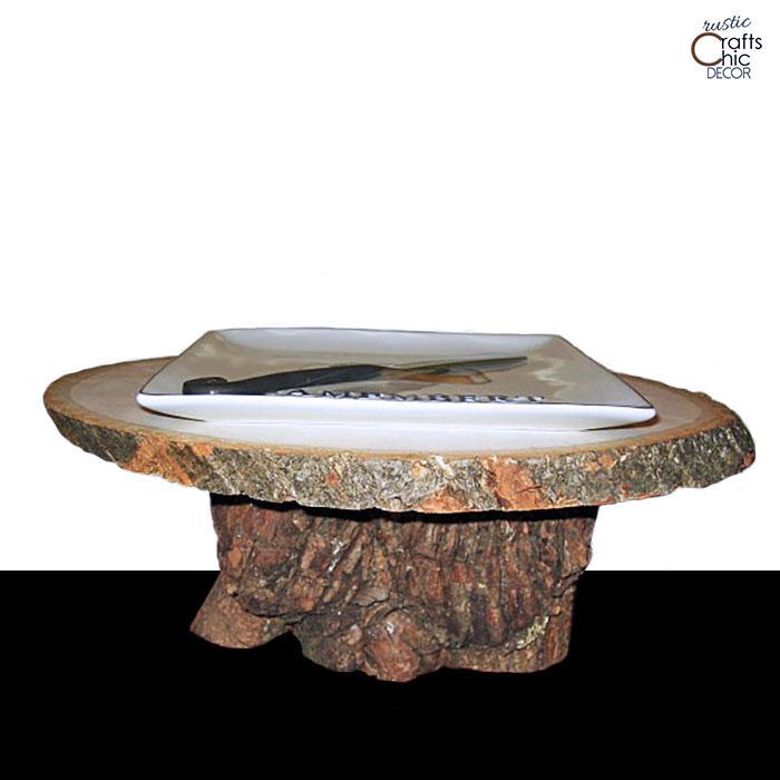 rustic pedestal tray