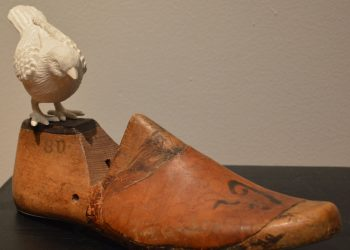 vintage wooden shoe form - display idea