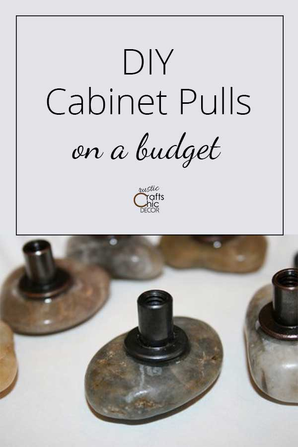 diy cabinet pulls on a budget