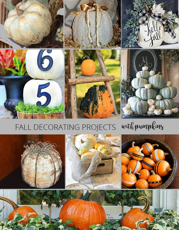 fall decorating projects - decorating with pumpkins