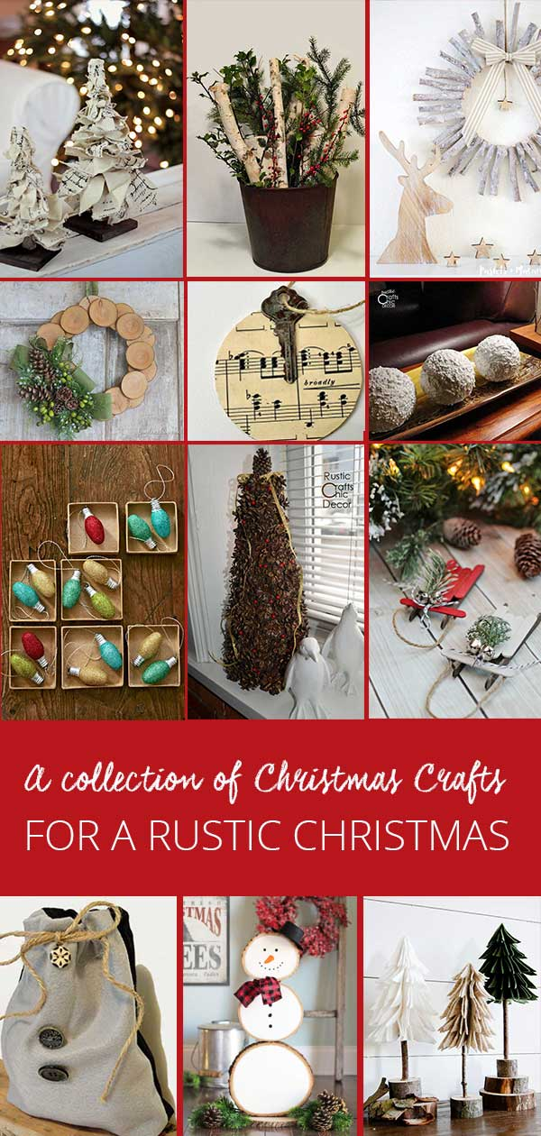 a collection of DIY Christmas crafts