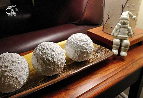 homemade indoor snowballs