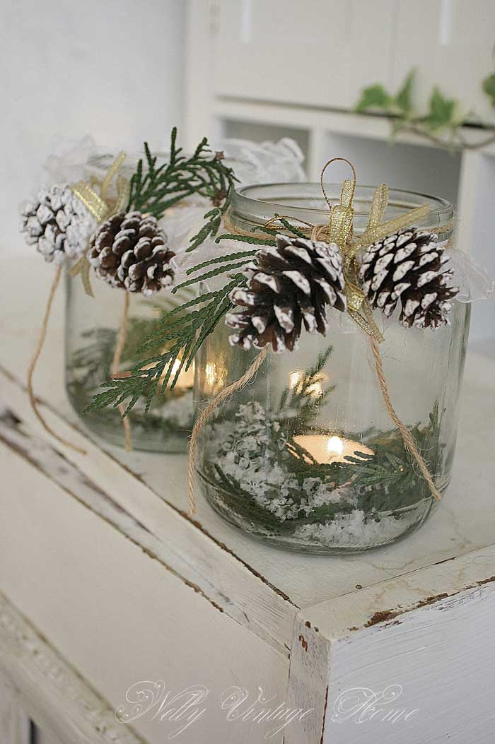 diy mason jar candle luminaries