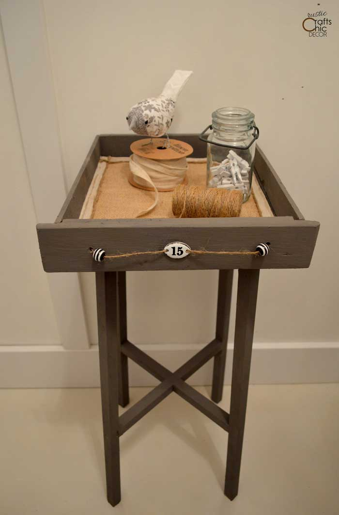 upcycle drawer table