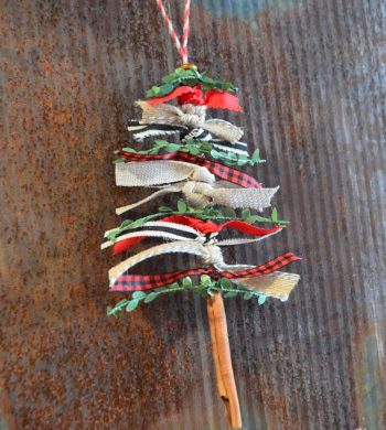 ribbon christmas tree ornament