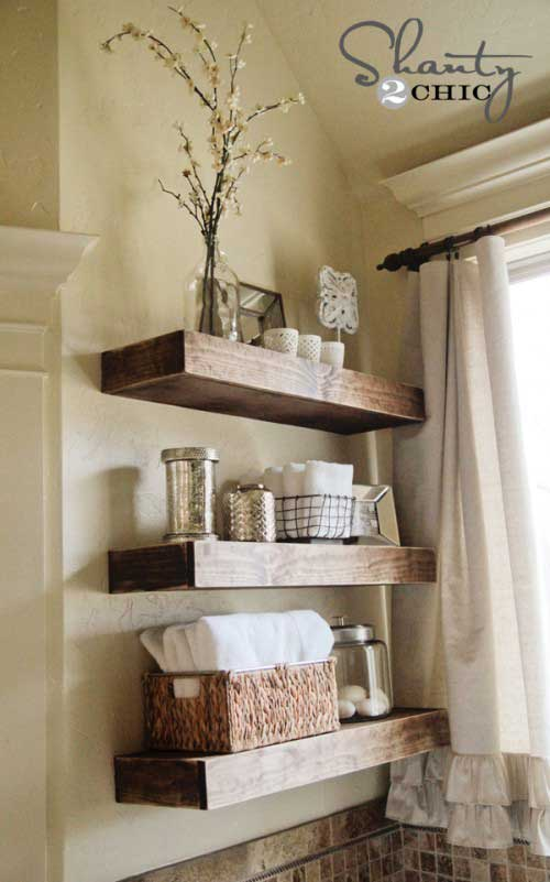 thick and beefy DIY floating shelves