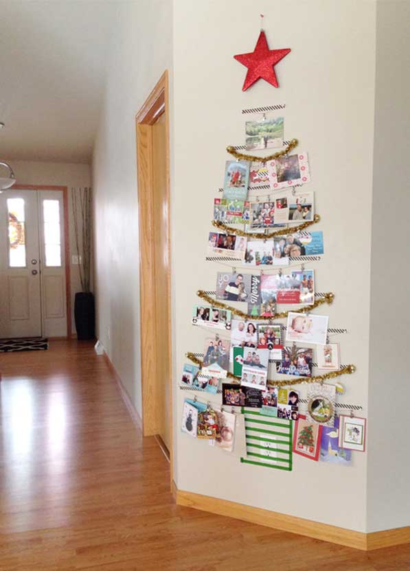 washi tape crafts card tree