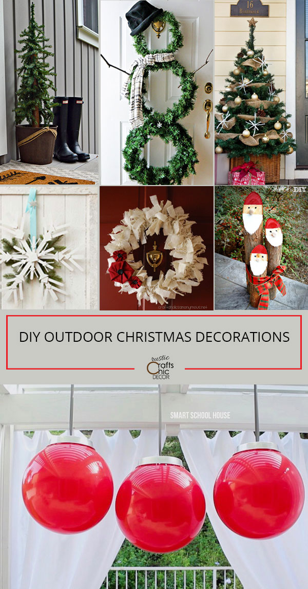 Cheap Diy Outdoor Christmas Decorations.Diy Outdoor Christmas Decorations Rustic Crafts Chic Decor