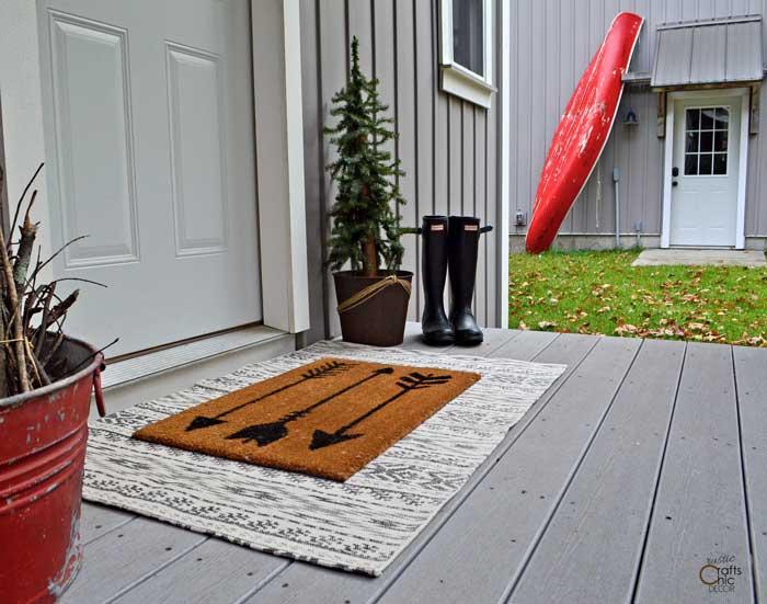 layered front door mats