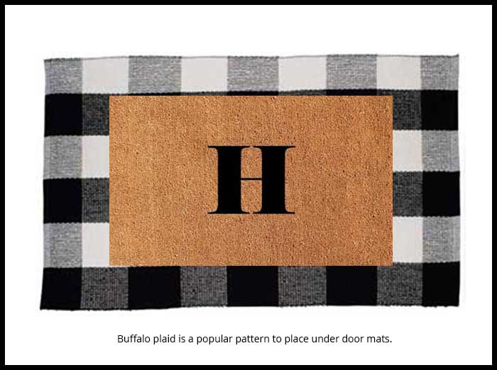 layered front door mats