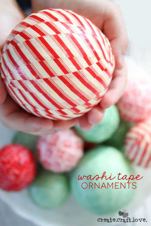 washi tape crafts christmas ornaments