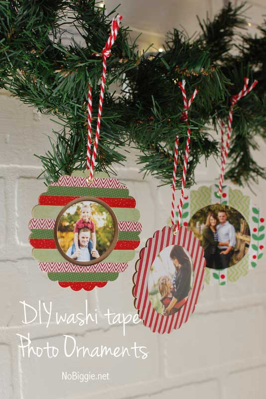 washi tape crafts photo ornaments