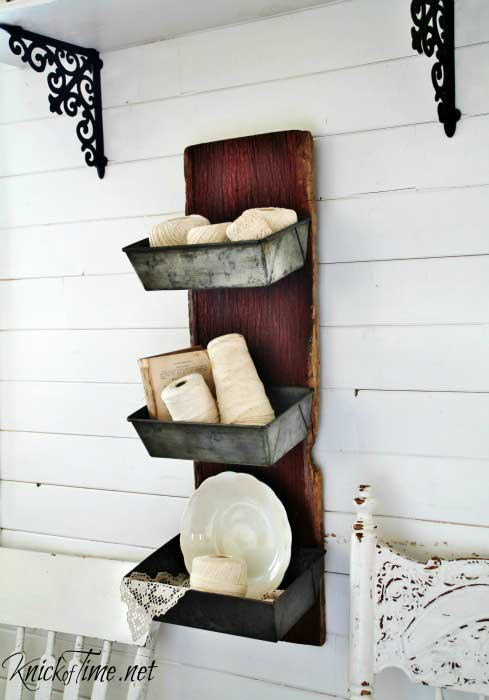 diy rustic wall bins
