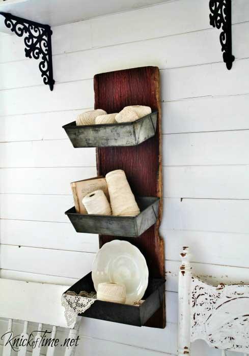 diy rustic wall bins