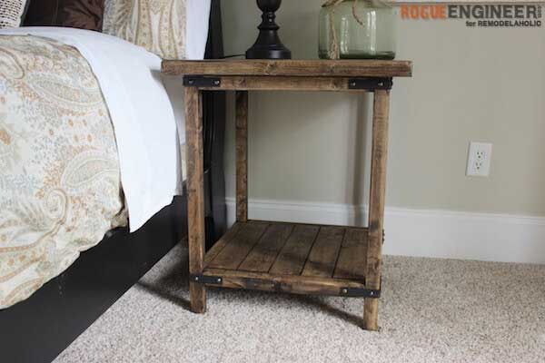 diy rustic square end table