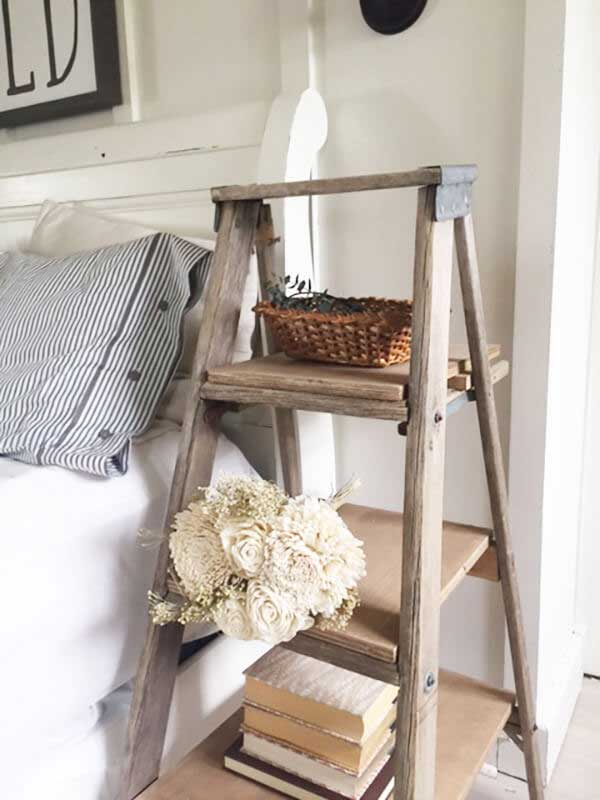 creative ladder nightstand