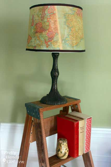 map lampshade paper craft