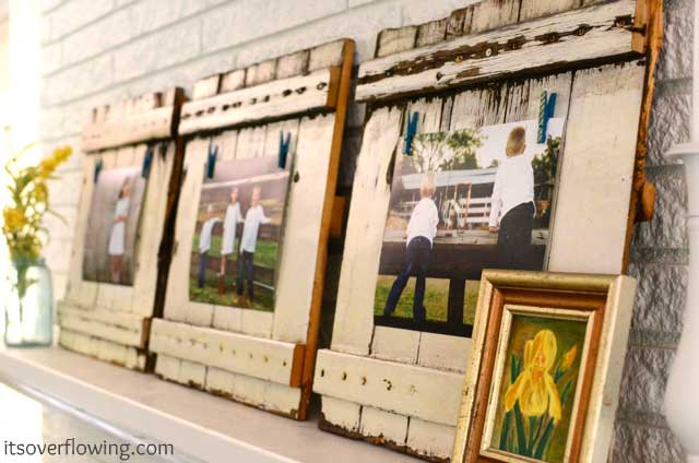 diy reclaimed wood picture frames