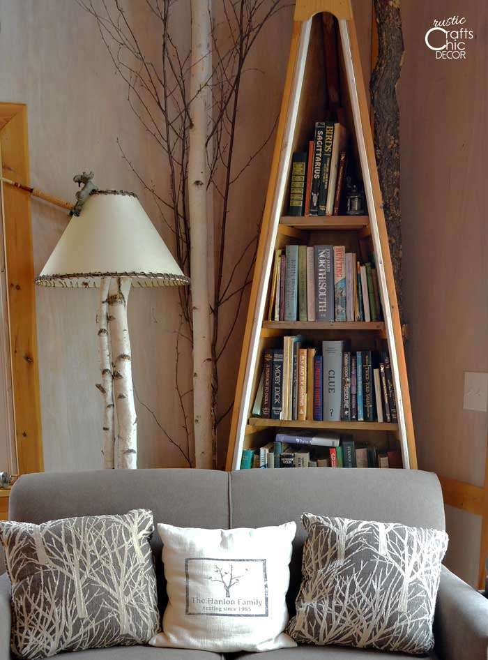 59 Incredibly Simple Rustic Décor Ideas That Can Make Your: Unique DIY Rustic Bookcases And Shelves
