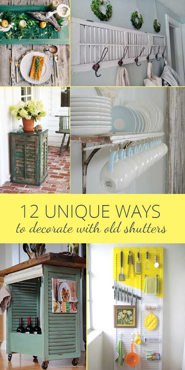 Decorating With Old Shutters.Decorating With Old Shutters In 12 Ways Rustic Crafts