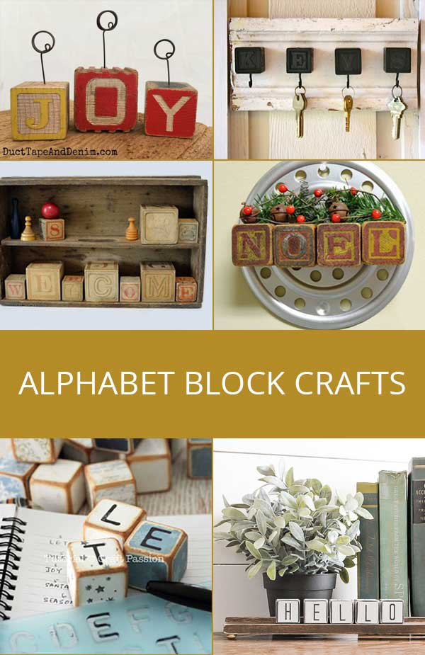 alphabet block crafts