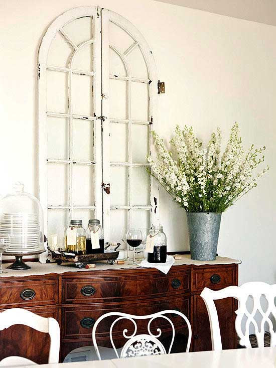 arched window display