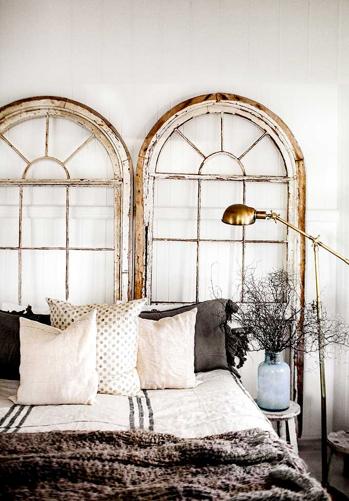 arched window headboard