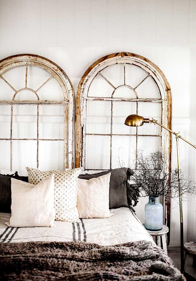 arched window headboard