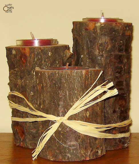 diy branch candle holders