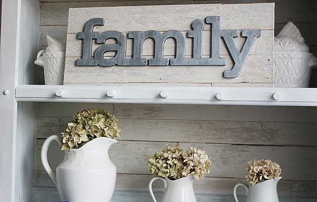 chipboard letters with faux galvanized metal technique