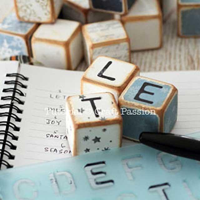 diy letter cubes