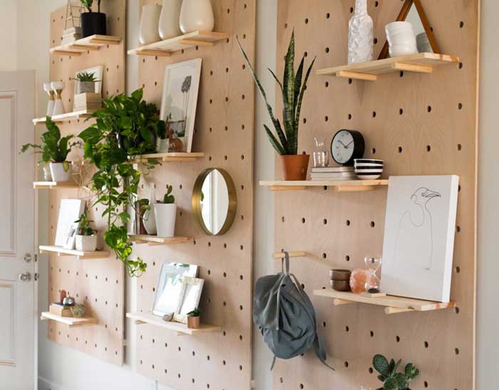 diy decorative storage pegboard