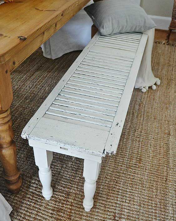 DIY shutter bench