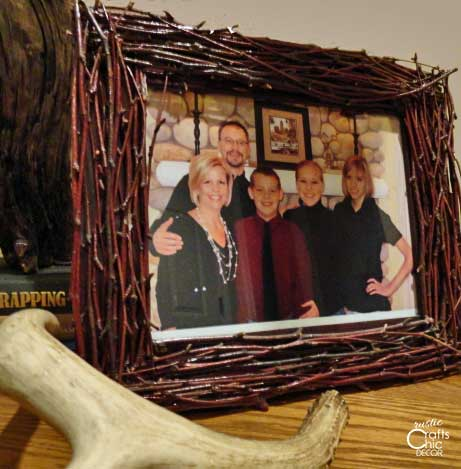 DIY twig picture frame