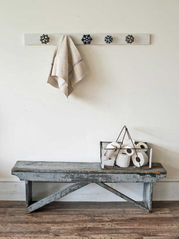 upcycled faucet handle coat rack